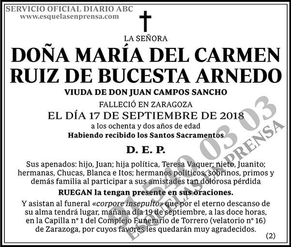 María del Carmen Ruiz de Bucesta Arnedo